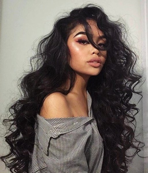 Екстеншън цяла глава - 100% човешка коса - път на страни - тъмни цветове